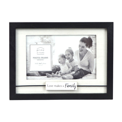 Love Makes a Family Boxed Wood Picture Frame