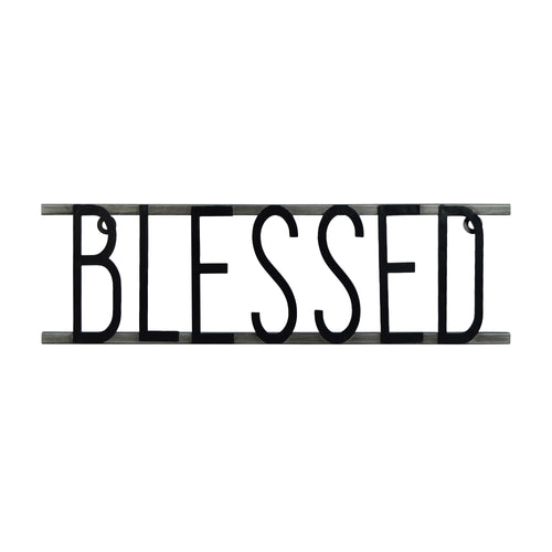Blessed Decorative Metal Word Wall Sign