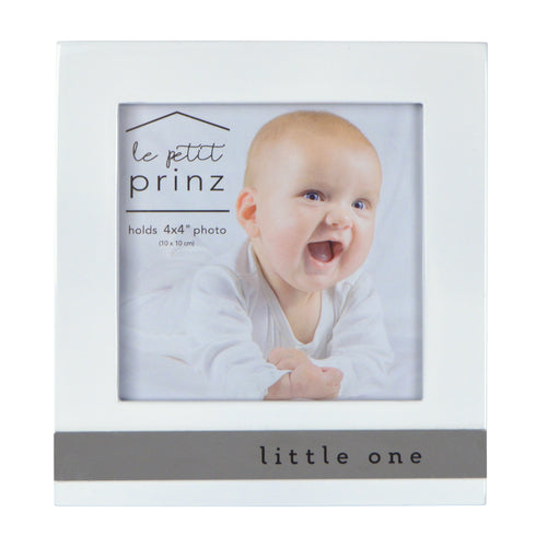 Little One Metal Band Horizontal Glossy 4 x 4-inch Picture Frame