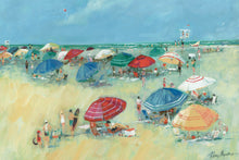 "Load image into Gallery viewer, Prinz Pastel Beachside Umbrellas 36"" x 24"" Canvas Wall Art"