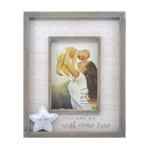 You are My Wish Come True Plush Star 4 x 6-inch Wood Baby Picture Frame