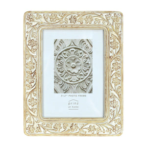 Mixed & Mingled 5 x 7 Embossed Picture Frame, Natural