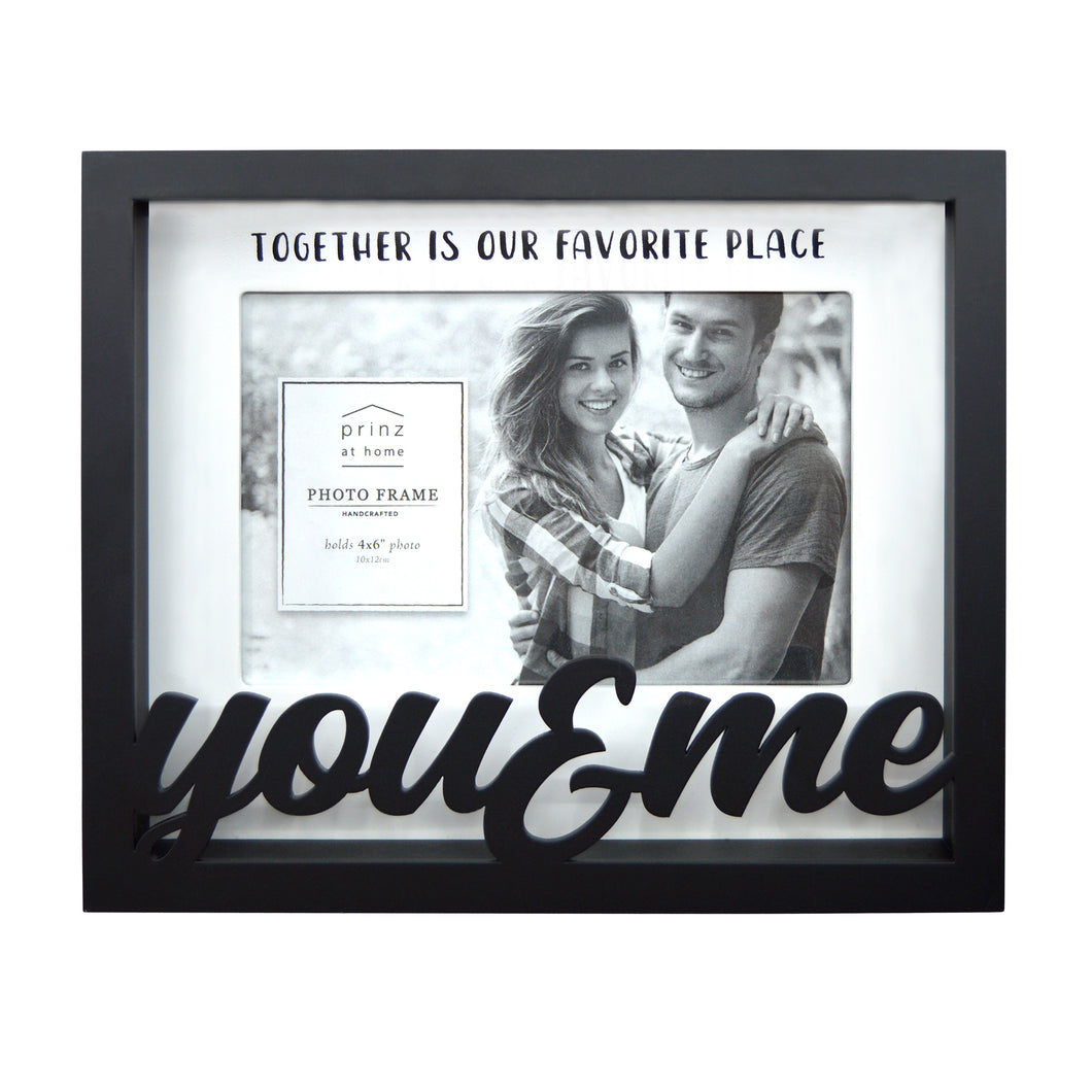 You & Me 4 x 6-inch Shadow Box Word Picture Frame, Black
