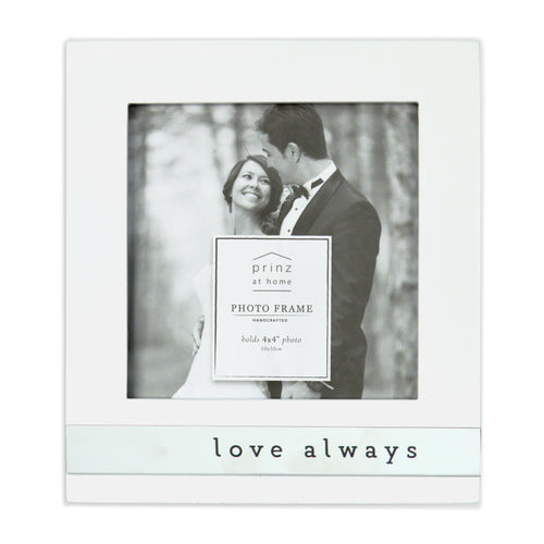 Love Always Metal Band Vertical Glossy Picture Frame