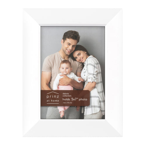 Prinz Dakota 5 Inch X 7 Inch Wood Picture Frame Picture White