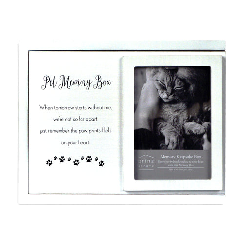 Decorative Dog, Cat, Pet Photo Keepsake Memory Box