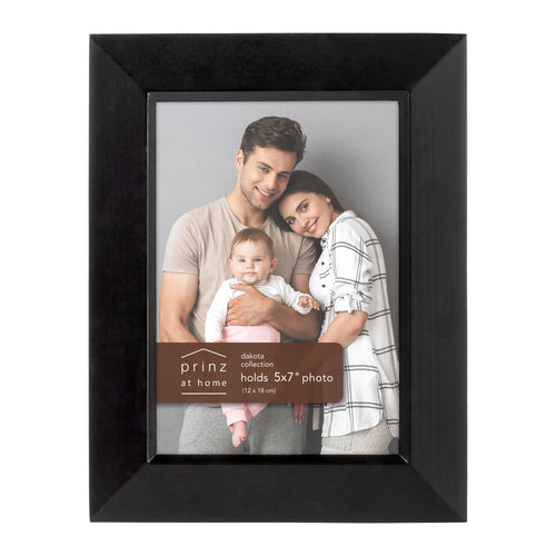 Prinz Dakota 5 Inch X 7 Inch Wood Picture Frame Picture , Black