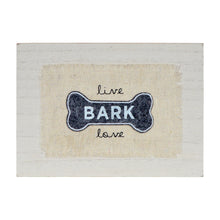 Load image into Gallery viewer, Live Bark Love Rustic Tabletop 7 x 5-inch Decor Sign
