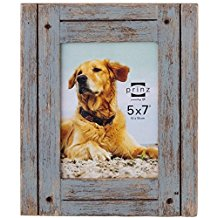 Load image into Gallery viewer, Homestead 5-inch x 7-inch Rustic Wood Picture Frame, Distressed Gray