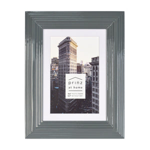 Midtown High Gloss Gray 4 x 6 Molded Modern Frame