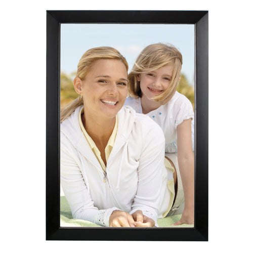 12-inch by 18-inch Dakota Black Finish Natural Wood Picture Frame