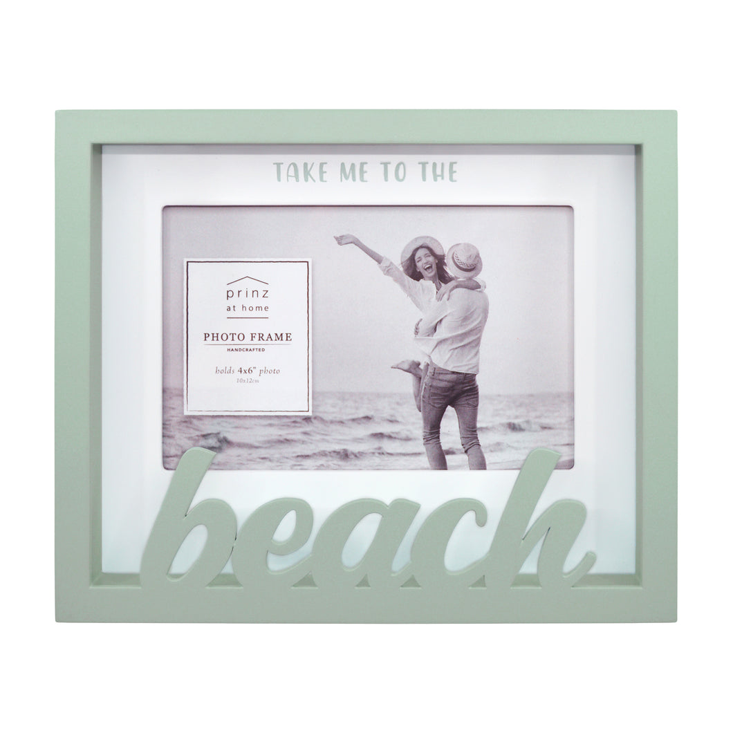 Beach Sentiment 4 x 6-inch Shadow Box Word Picture Frame