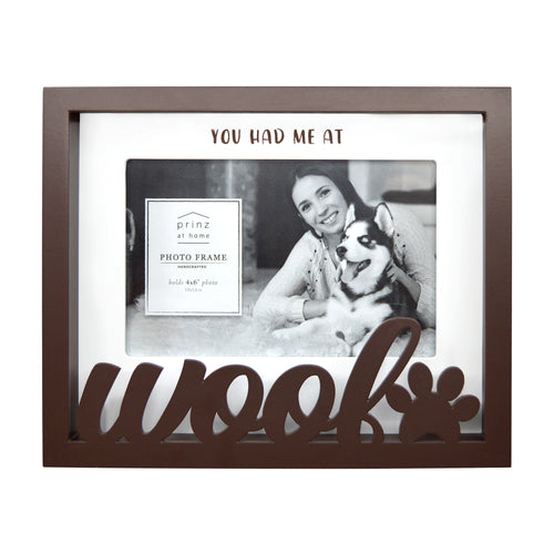 Woof 4 x 6-inch Shadow Box Word Picture Frame, Brown