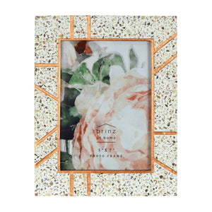Mixed & Mingled 5 x 7 Resin Terrazzo Picture Frame