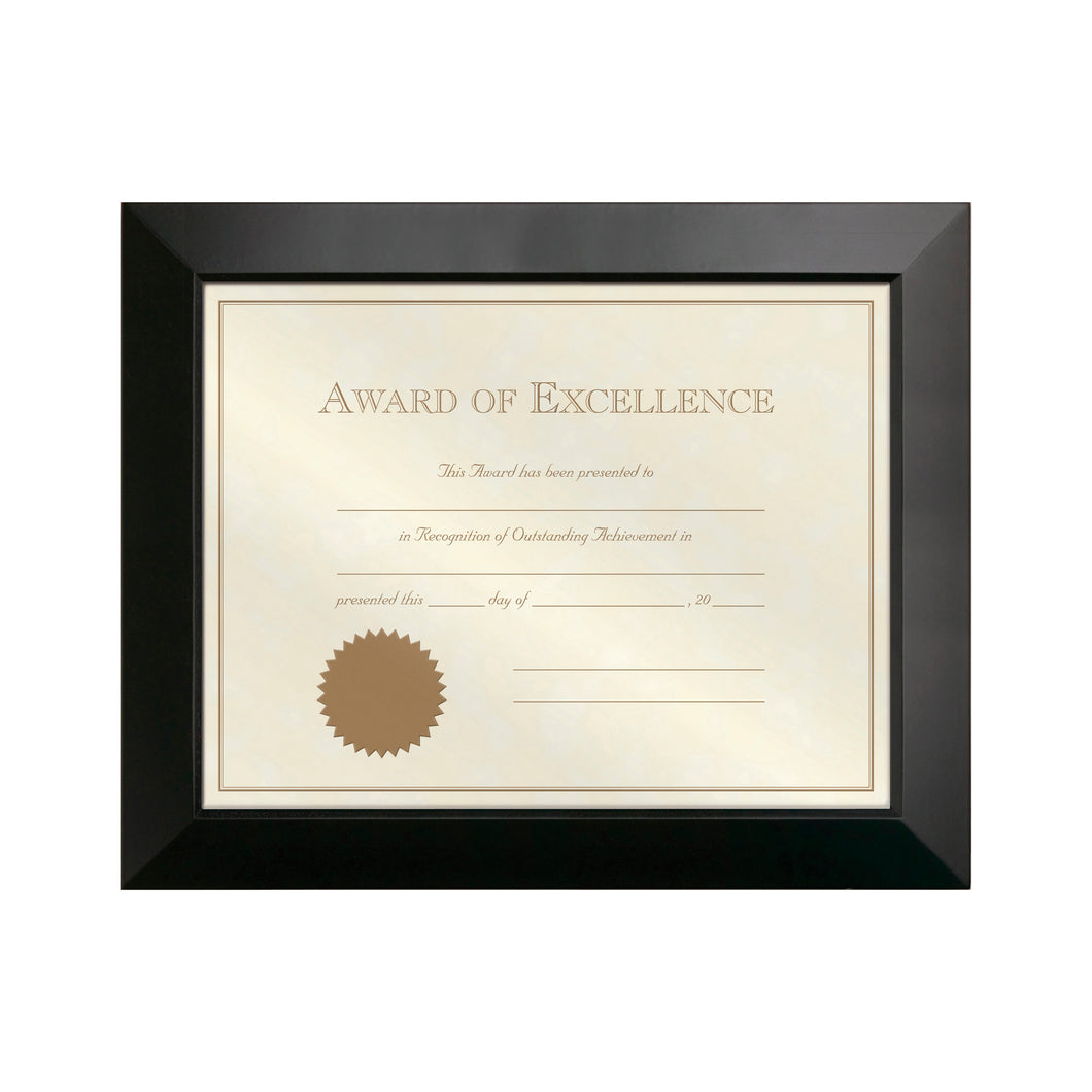 8.5-inch by 11-inch Dakota Black Finish Wood Document Frame
