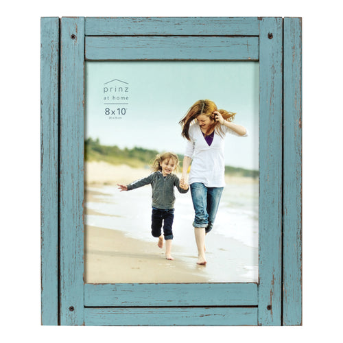 Homestead 8-inch x 10-inch Rustic Wood Picture Frame, Distressed Blue