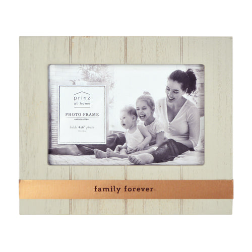 Family Forever Metal Band Plank Horizontal Picture Frame