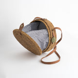 gingam straw bag