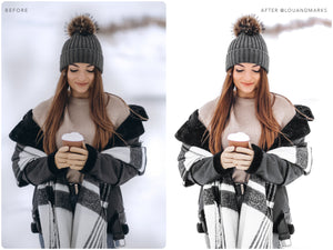15 Winter Mobile Lightroom Presets White, Clean Photo Editing Filter for Lifestyle Blogger, Instagram Influencer Outdoor Preset