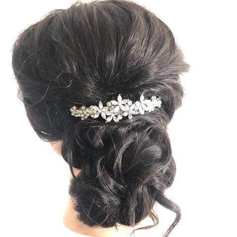 Crystal Floral Hair Barrette