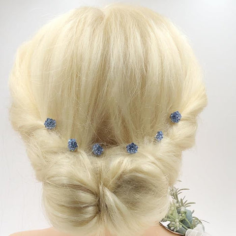 Something Blue Bridal Combs-Set of 6