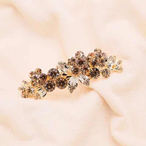 Sunset gold crystal hair barrette