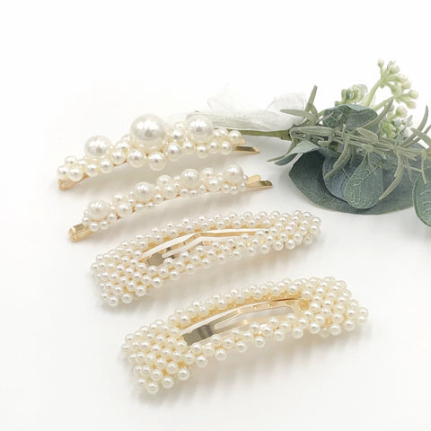 Faux Pearl Clips