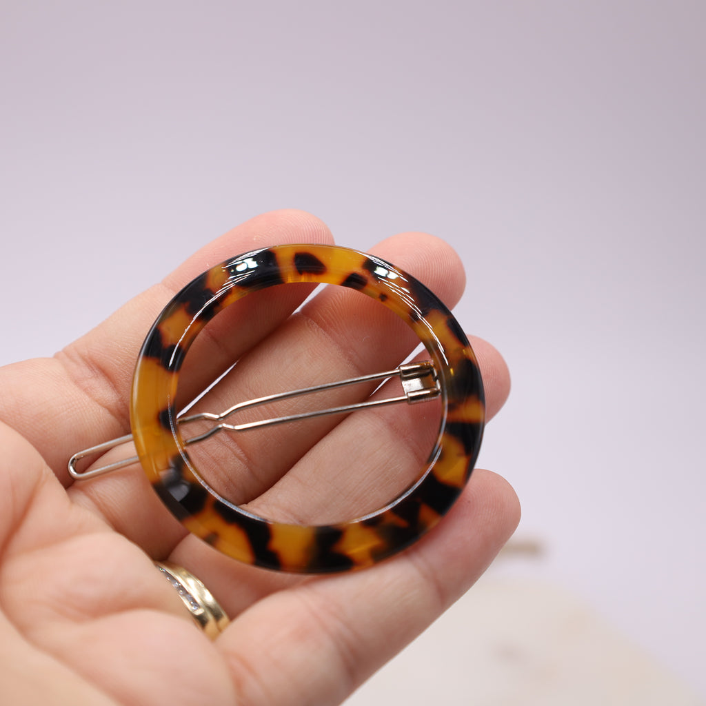 Geometric Tortoiseshell Hair Pin Barrette