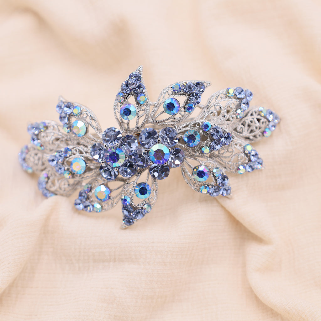 Blue Bridal Hair piece Barrette