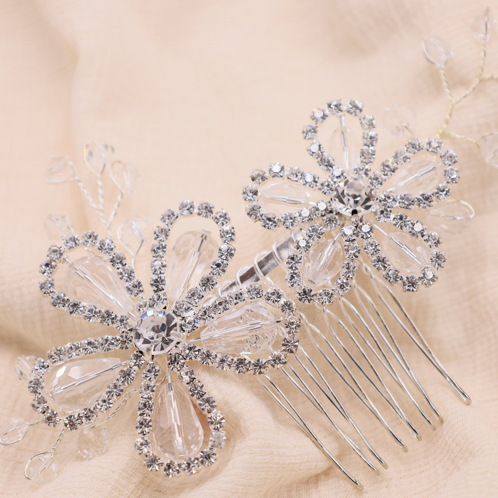 Borage Bridal Hair Comb