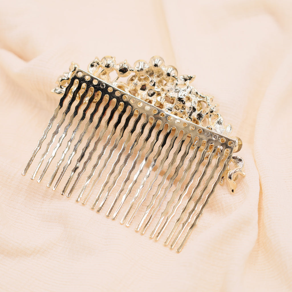 Bridal Hair Comb Side Gold