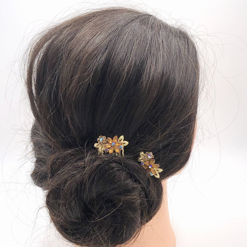 up-do hairdo with side comb