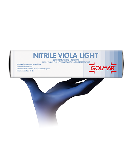 Guanti In Nitrile Golmar  Viola Light S