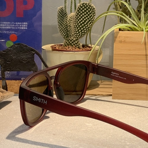 【SMITH / スミス】AGENCY matte crystal deep maroon(ChromaPop  black)