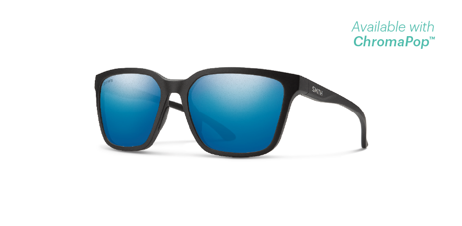 【SMITH / スミス】SHOUTOUT matte black(ChromaPop  Polarized blue mirror)