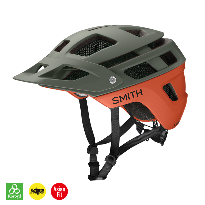 【SMITH / スミス】FOREFRONT 2 MIPS matte sage / red rock(マウンテンバイク用 ヘルメット)