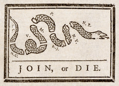 ben franklin's join or die design