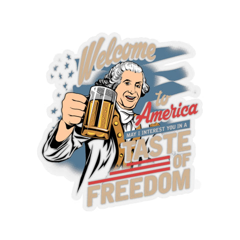 Taste of Freedom Kiss-Cut Sticker