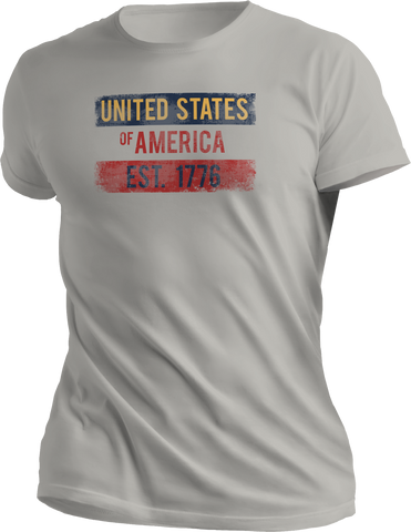 USA Distressed Tee