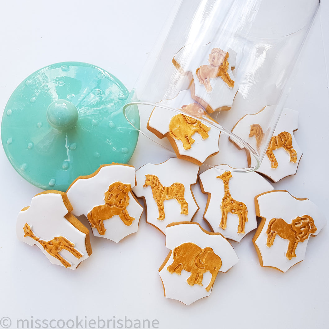 Be Unique Safari Theme Baby Shower Cookies