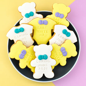 Teddy Bear Baby Shower Cookies