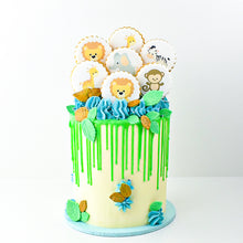 Load image into Gallery viewer, Cookie Decorated Baby Boy Shower Cake