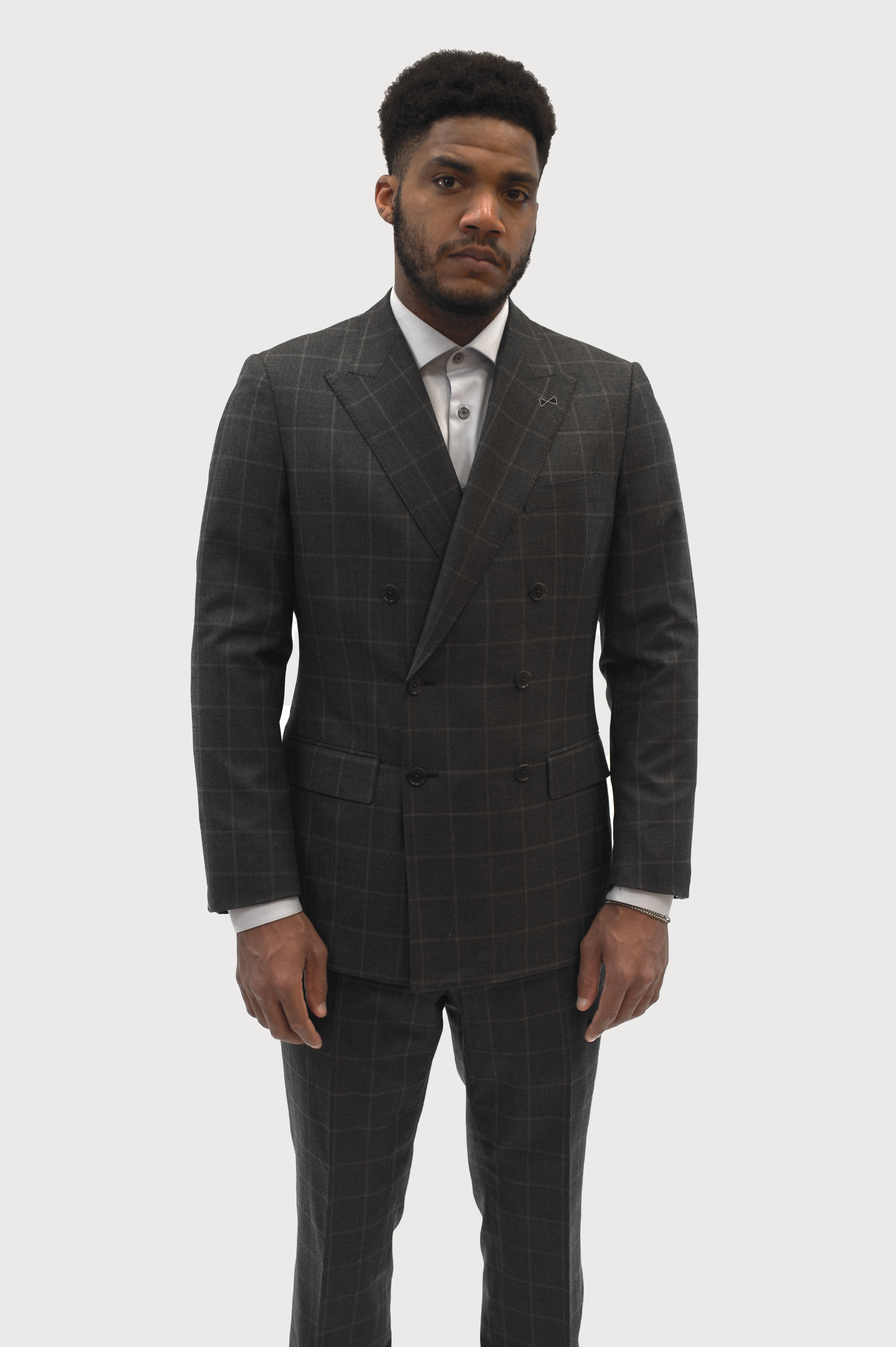 Drago Grey Double Breasted Suit
