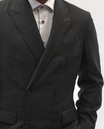 Load image into Gallery viewer, Reda Double Breast Grey Pinstripe Suit
