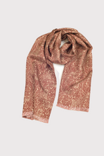 Load image into Gallery viewer, F. Marino Brown Silk/Wool Scarf