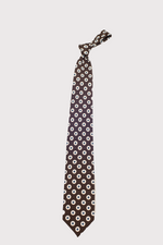 Load image into Gallery viewer, F. Marino Brown Print Silk Ties
