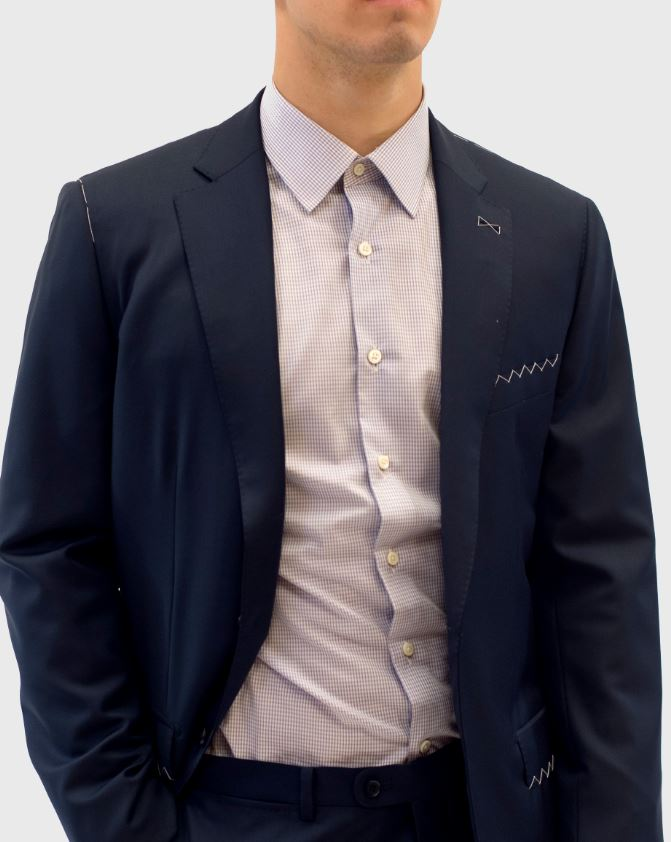 Loro Piana Navy Blue Suit
