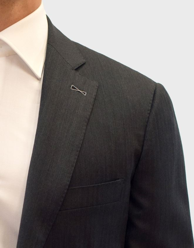 Loro Piana Grey Herringbone Suit