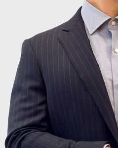 Loro Piana Grey Pencil Stripe Suit