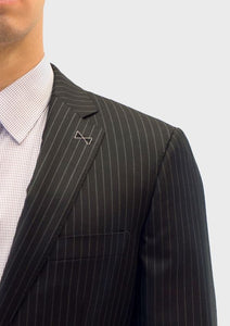 Loro Piana Black Chalk Stripe Suit